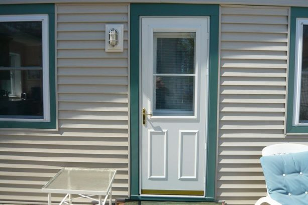 All New For 2013. New Front Door with built in Blinds and Pella