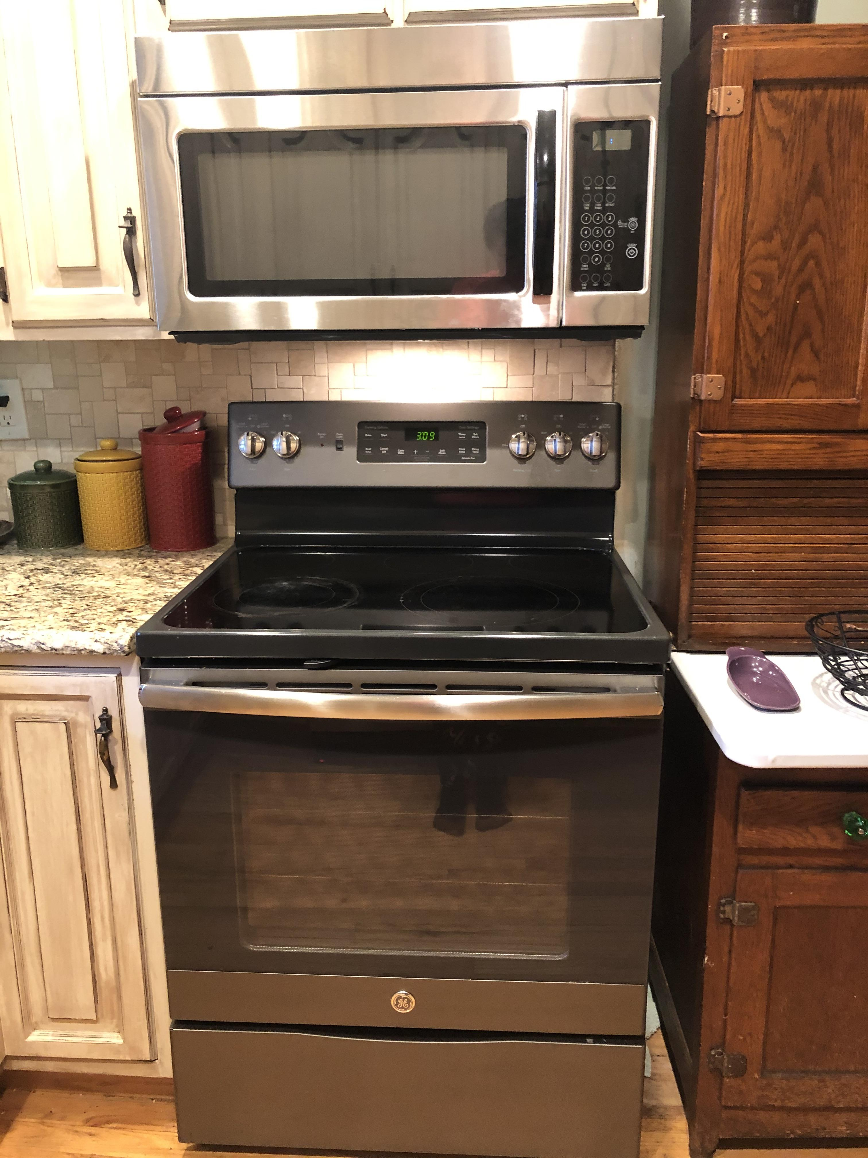 Convection oven, microwave, hoosier