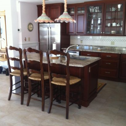 Viking Kitchen with Cherry Cabinets