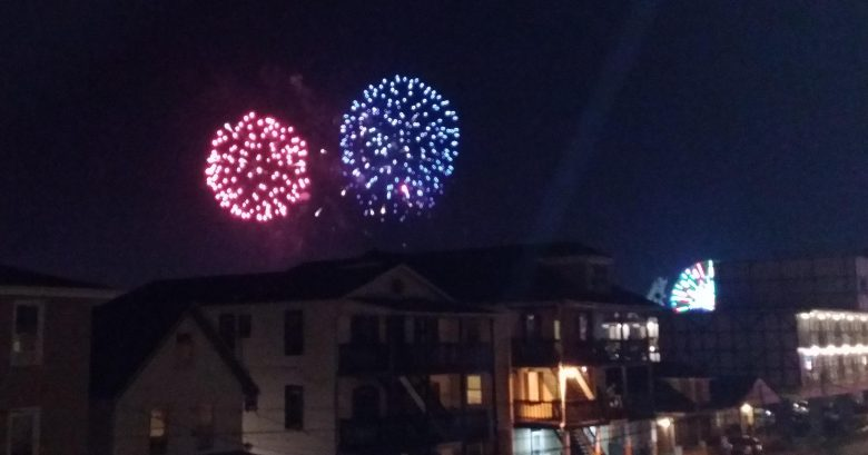 Friday night fire works from deck