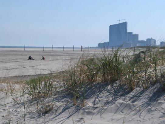 Beach- South View, Atlantic City Skyline