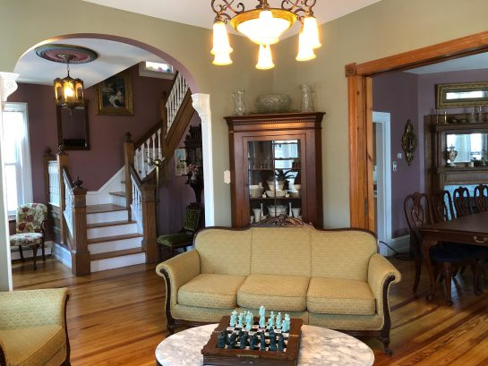 Living Room to Foyer and Dining Room
