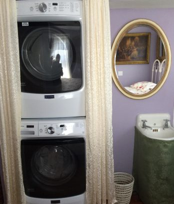 XL capacity Maytag front-loading washer and dryer