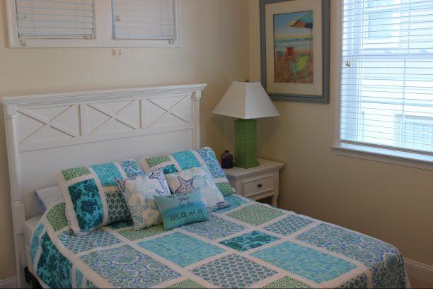 """Queen bedroom with 32"""" TV"""