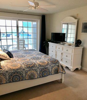 Master bedroom/door to deck