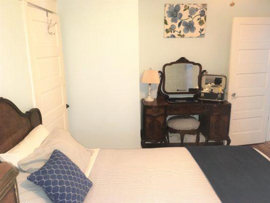 Vintage furnishings throughout