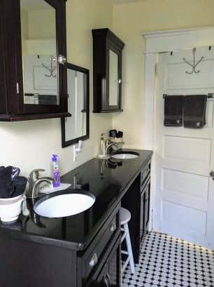 Classic Black and White Double sinks