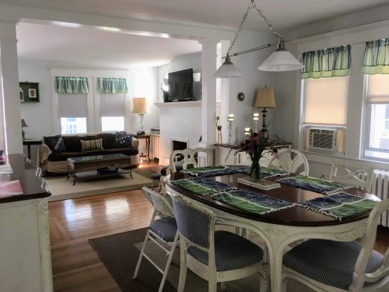 Dining Room, plenty of linens, accessories for a dinner party
