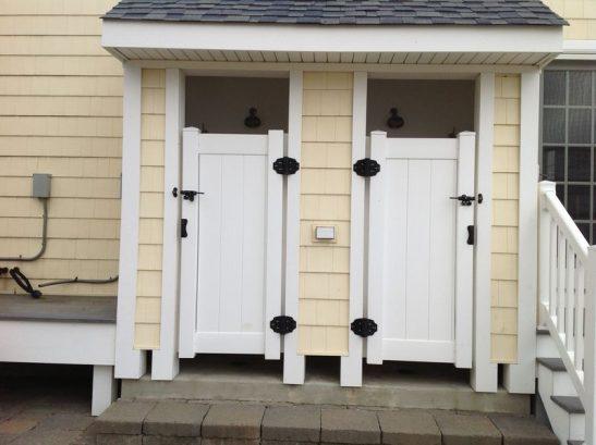2 Outdoor Showers W/ Lighting & Door Locks