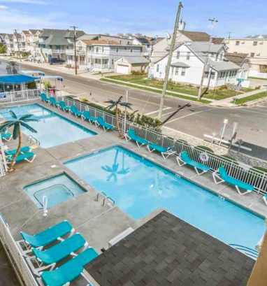 Two heated pools and a smaller pool for the kids to enjoy as well!