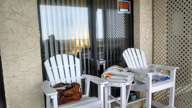 Comfortable chairs for morning coffee, a book, and a view