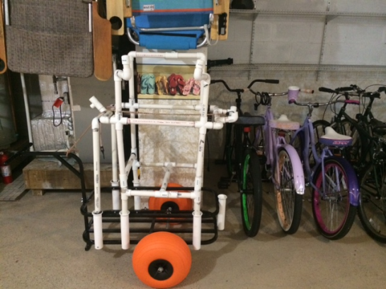 Beach carts & bike for your use