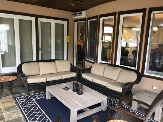 Screened In Outdoor Sitting Area.