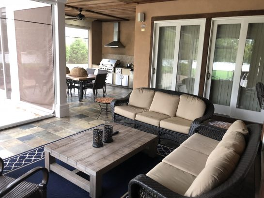 OutDoor Seating, Outdoor Kitchen with Refrigerator