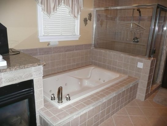 Master Bath - Whirlpool Tub (shower in background)