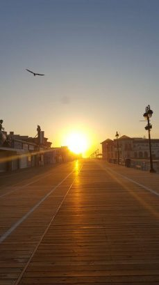 Sunrise over the boardwalk