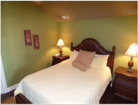Bedroom with Vera Wang pillow top mattress