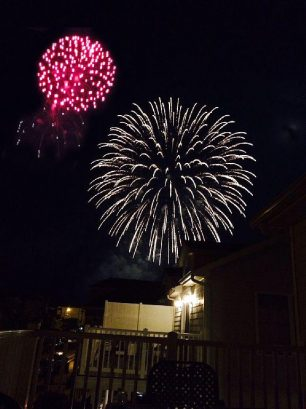 Enjoy Friday night fireworks while sitting on the deck.