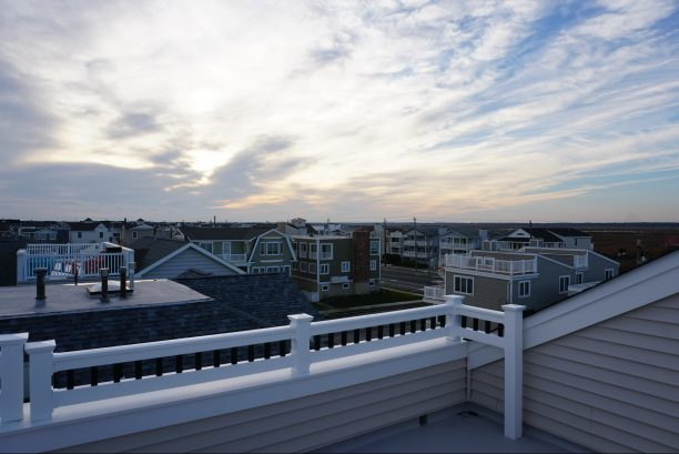 Bay view from rooftop deck