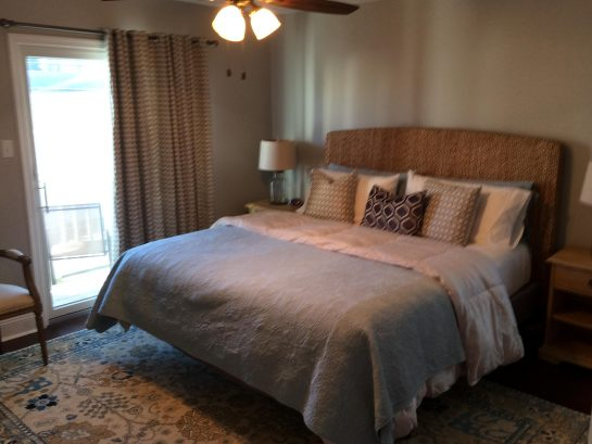 Master Bedroom - King Bed, TV, Private Bath, Private Deck - Bedroom 4