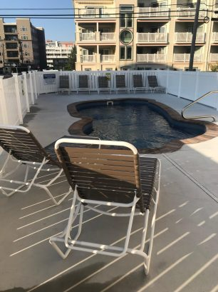 Pool and  Barbecue Area