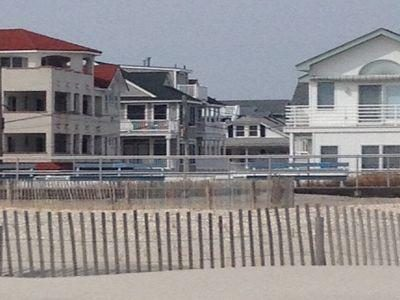 Right in the Middle. View from the beach. Wave to the Kids!