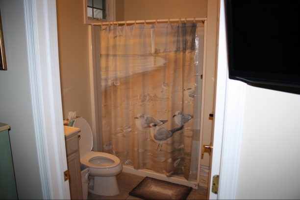 Lower Master Suite Bathroom. Great Privacy just off Your Private Deck with Ocean Views.