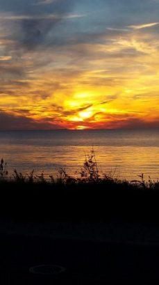 Beautiful sunsets abound.