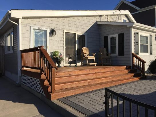 View of Front Deck and Paver Patio