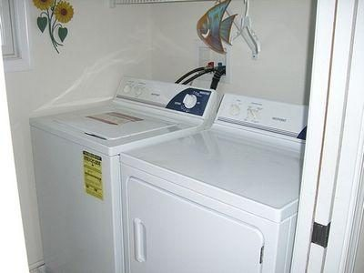 Private Laundry Room Full Size Washer & Dryer