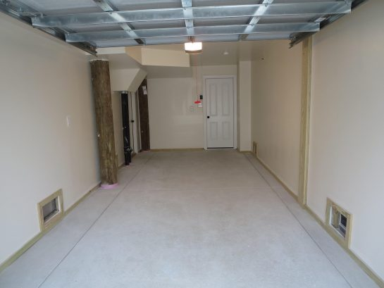 View into the garage.