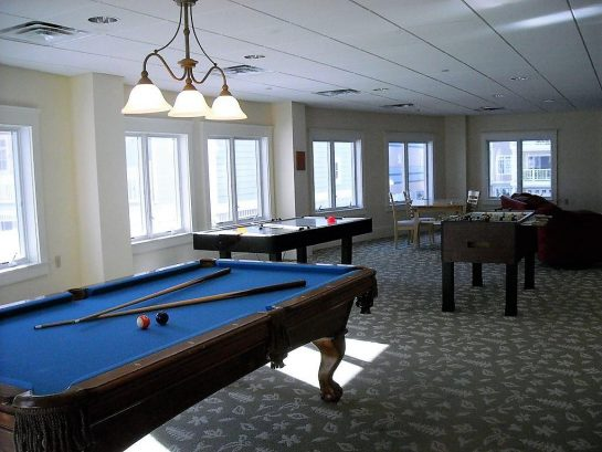 Enjoy a Game of Pool on the 1st Floor while the Kids Are Playing Air Hockey