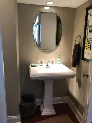 Powder room on the main floor.