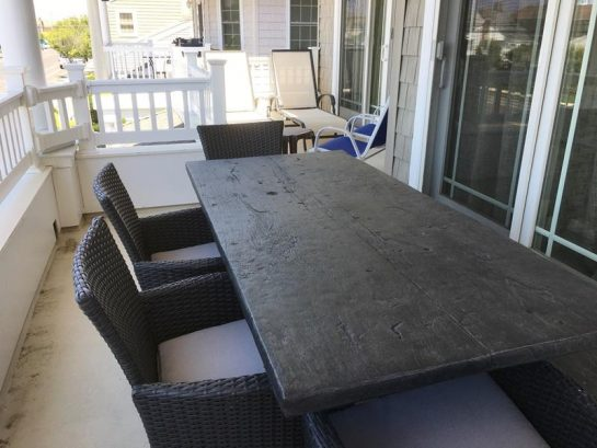 front deck - picnic table view