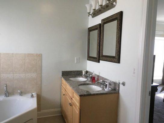 2nd floor master bedroom bath-double sinks