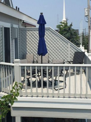 Upper Deck with table and chairs/lounge chair