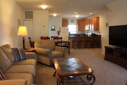 Second floor with spacious open floor plan.