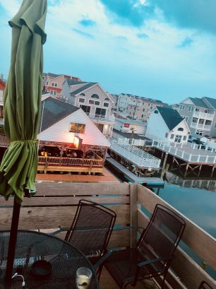 View from deck of Marie's Seafood