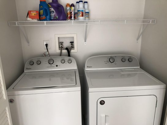 Convenient 3rd fl laundry room with new full-size washer and dryer
