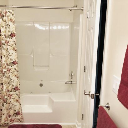 Master bath - luxurious and spacious jetted tub with shower