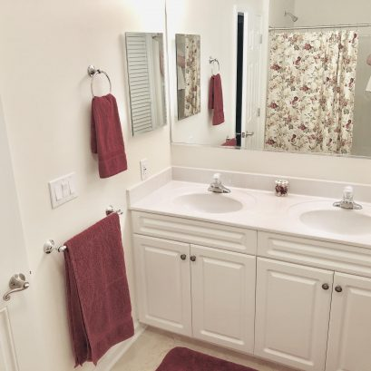 Master Bath (full bath #1) with two vanities and private toilet/water closet