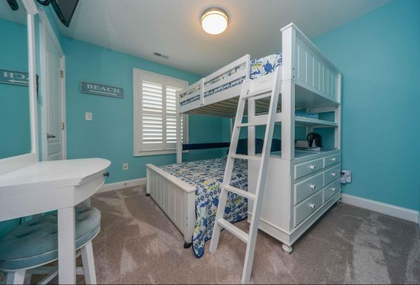 Bedroom number 4 - full over full bunk bed, TV, vanity desk