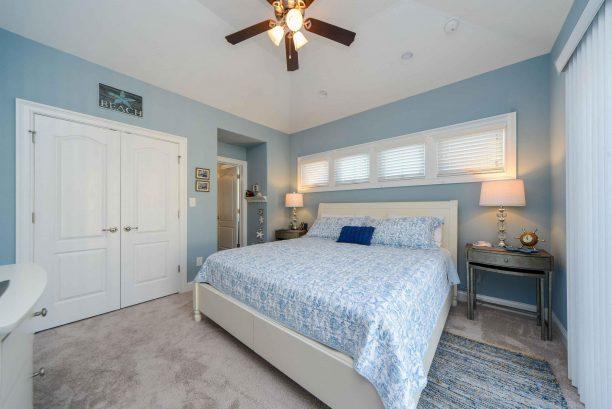 Bedroom #1 - Large master bedroom, king size bed, TV, en suite bathroom, slider to back deck