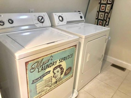 Laundry Room with full-sized washer & dryer