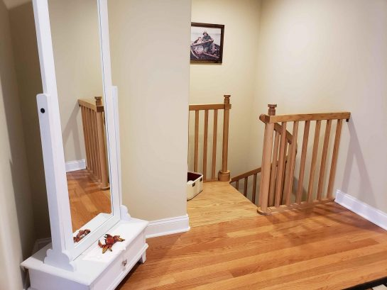 Spiral Staircase to Rec Room/4th Bedroom