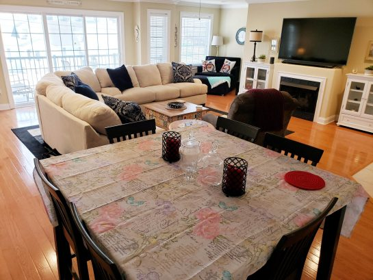 Family Room/Dining Area-65-inch TV