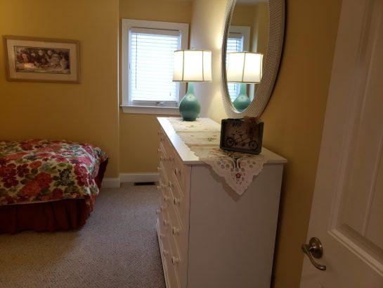 Twin Bedroom with oversized dresser