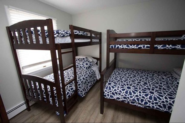 Unit 2 Bedroom #3 - 1 Full & 3 Singles