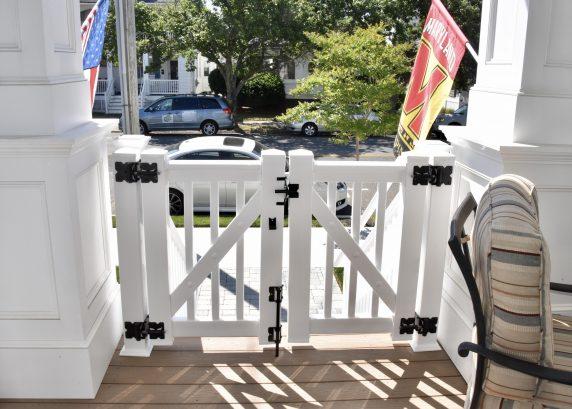 Gated porch - safer for littles