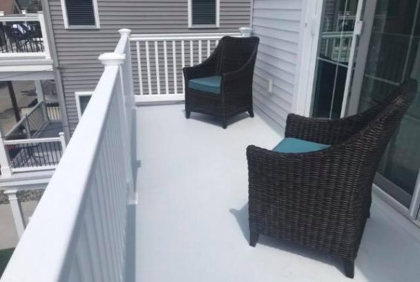 Seating back deck